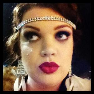 1920's makeup by Kira Bottles